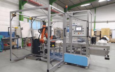 Ilot de palettisation robotisé en sortie de plieuse